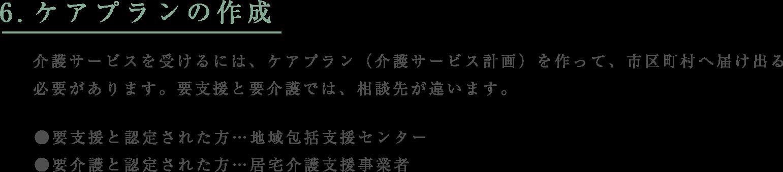 6.ケアプランの作成